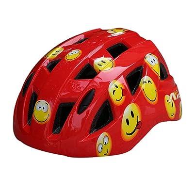Cartoon Smile Face Roller/vélo/skateboard Casque (Rouge)