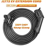 ONETAK SAE J1772A AC 85-250V 40 Amp 20ft 8AWGx3C 20AWGx1C EV Charger Extension Cable Cord for EV Charger Charging Station