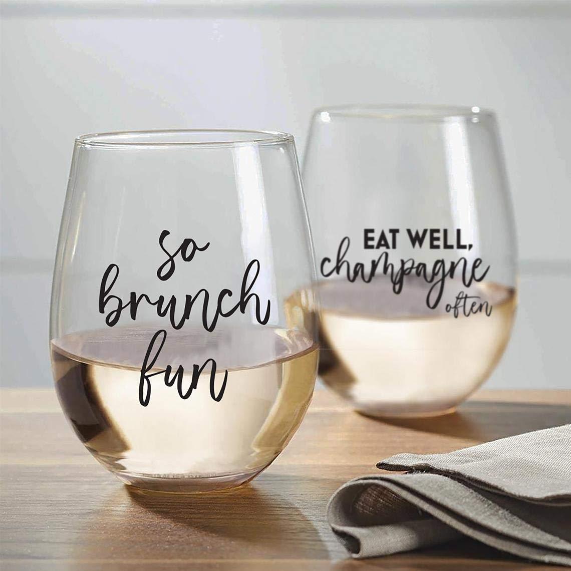 Custom Stemless Glass Wineglass