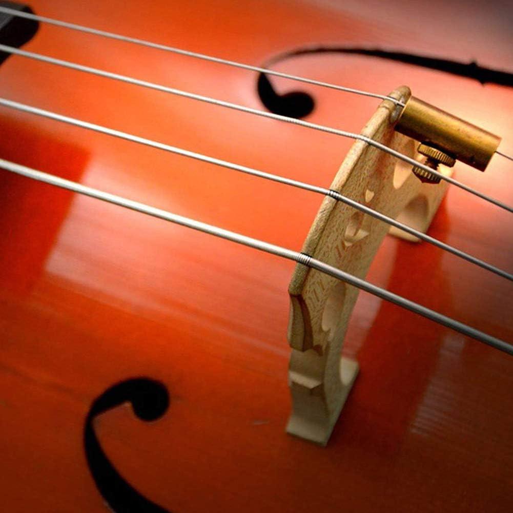 WANDIC Set of 1 Golden Brass Adjustable Cello Wolf Tone Eliminator Wolf Tone Mute Suppressor Tube Eliminate Wolf Tone Size 12x24mm