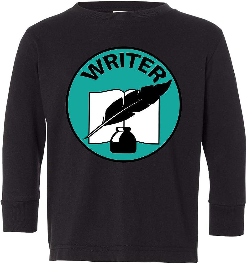 Tenacitee Toddlers Writer Badge Long Sleeve T-Shirt