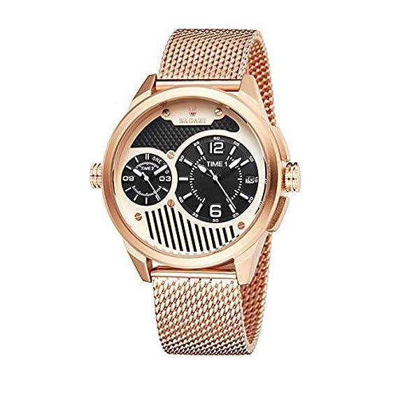 Hermosos Relojes No Data / 2018 Hombres de los Deportes de Malla Reloj con Funcion Multi Movimiento Dual de Reloj electronico: Amazon.es: Relojes