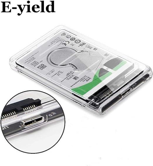 HoneybeeLY Estuche HDD/SSD de 2,5 Pulgadas, Estuche de Disco Duro USB 3.0, Estuche de Unidad, Transferencia de 5 Gbps, hasta 2 TB, Transparente, Externo, Estuche de Disco SATA 3.0: Amazon.es: Hogar