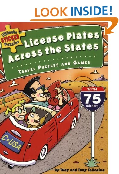 ultimate sticker puzzles license plates across the states travel puzzles and games