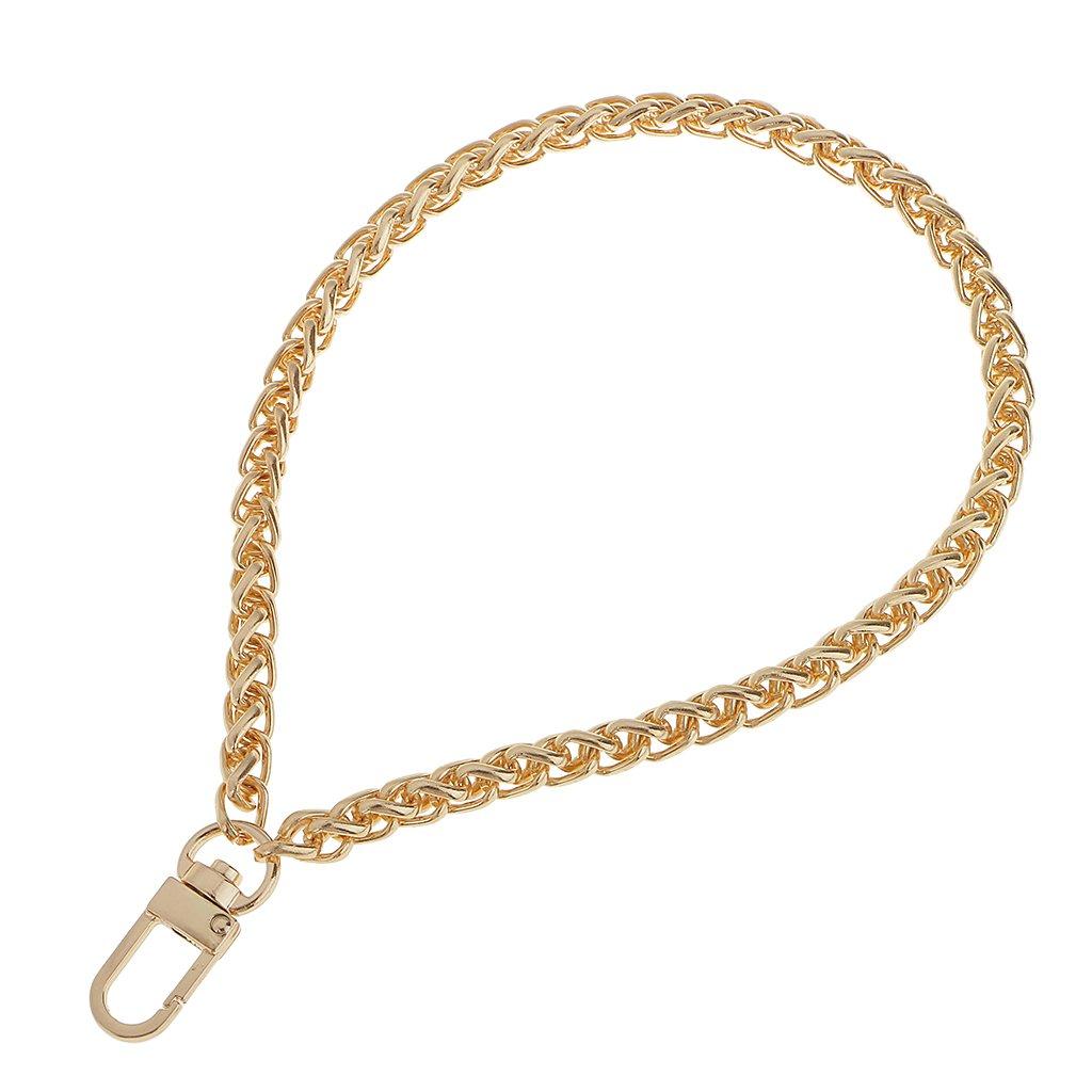 Metall Dekor Kette Metallkette Riemen Straps für Taschen Handtasche Umhängetasche - Gold, one size STK0155015046