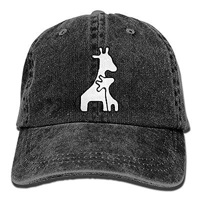 2018 Adult Fashion Cotton Denim Baseball Cap Mother and Child Giraffe Classic Dad Hat Adjustable Plain Cap
