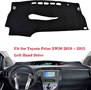 N2Qnice Car Auto Dashboard Cover for Toyota Prius XW30 2010 2011 2012 2013 2014 2015 Left Hand Drive Dashmat Pad Carpet Dash Mat