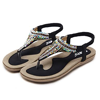 93eb5b523ac44 Amazon.com: MILIMIEYIK Women Slide Sandal, Women's Summer Beach Flat ...