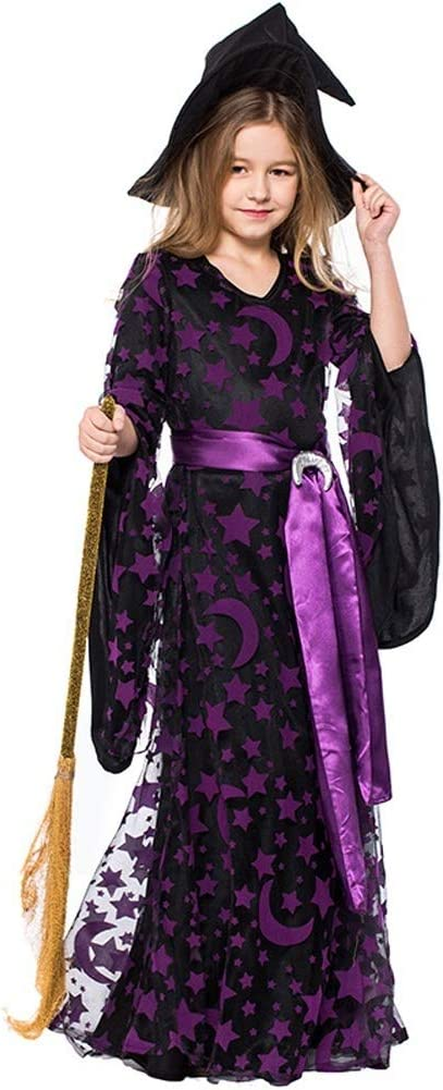 LOLANTA Disfraz de Bruja Lunar para niña Disfraz de Luna Morada ...