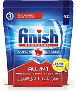 Finish All in 1 Dishwasher Detergent Lemon Powerball, 42 Tablets