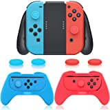 3 in 1 Controller Comfort Grip Kit Compatible with Nintendo Switch Joy-Con with 4 Thumb Grip Caps