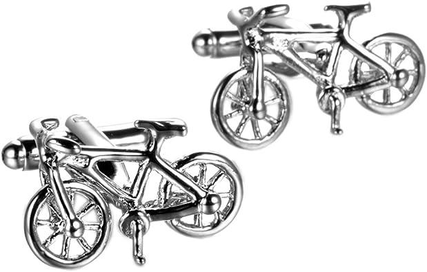 UM Joyería 2 Piezas Rodio Plateado Ciclista Bicicleta Hombres ...