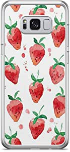 Samsung Galaxy S8 Transparent Edge Phone Case Strawberry Phone Case Pink Pattern Phone Case Delicious