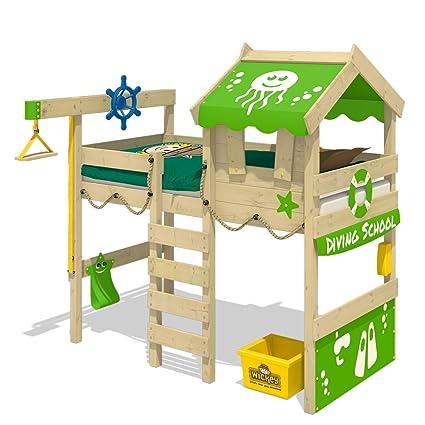 WICKEY Letto a soppalco CrAzY Jelly Letto per bambino con tetto ...