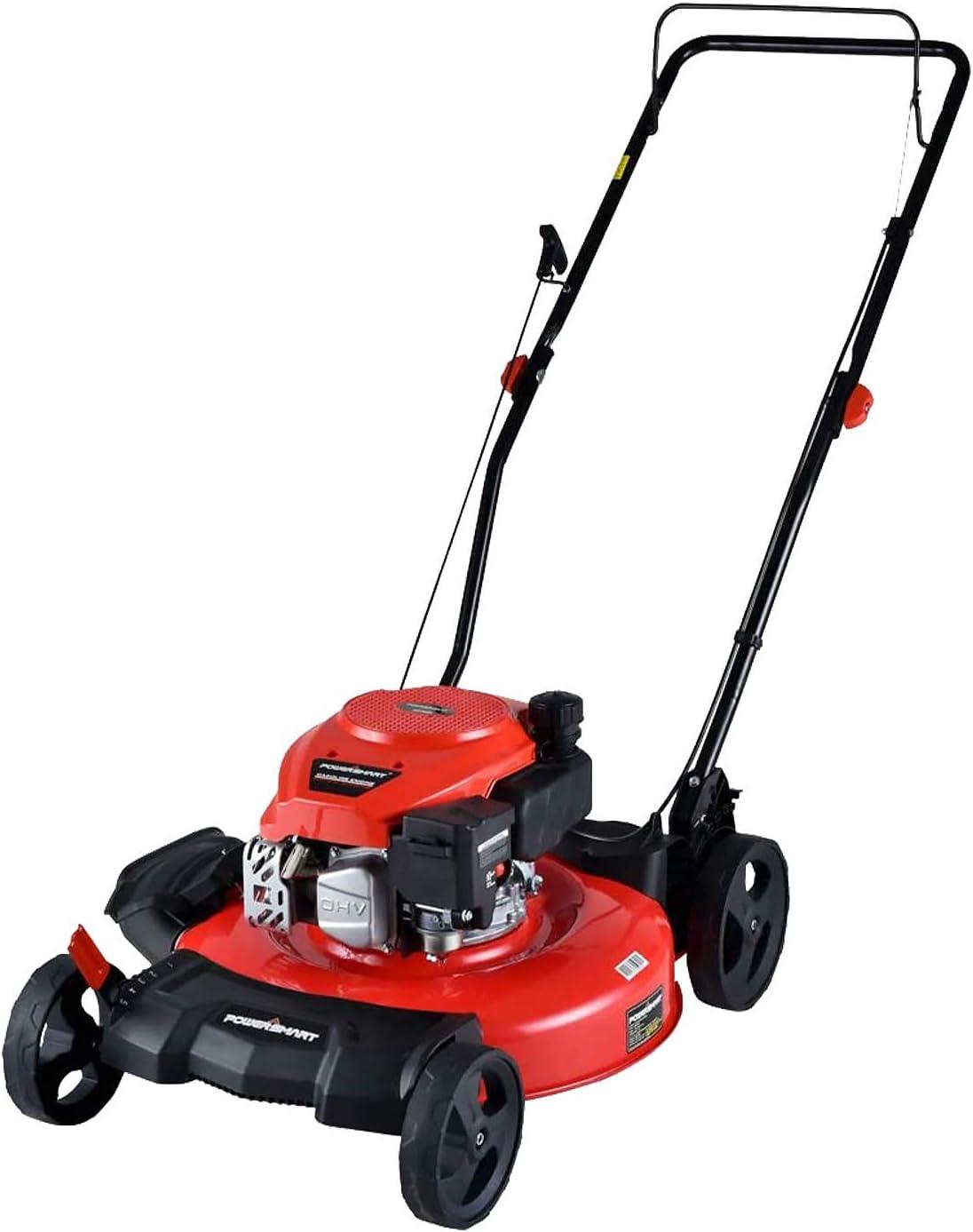 PowerSmart 21-inch & 170CC, Gas Powered Push Lawn Mower