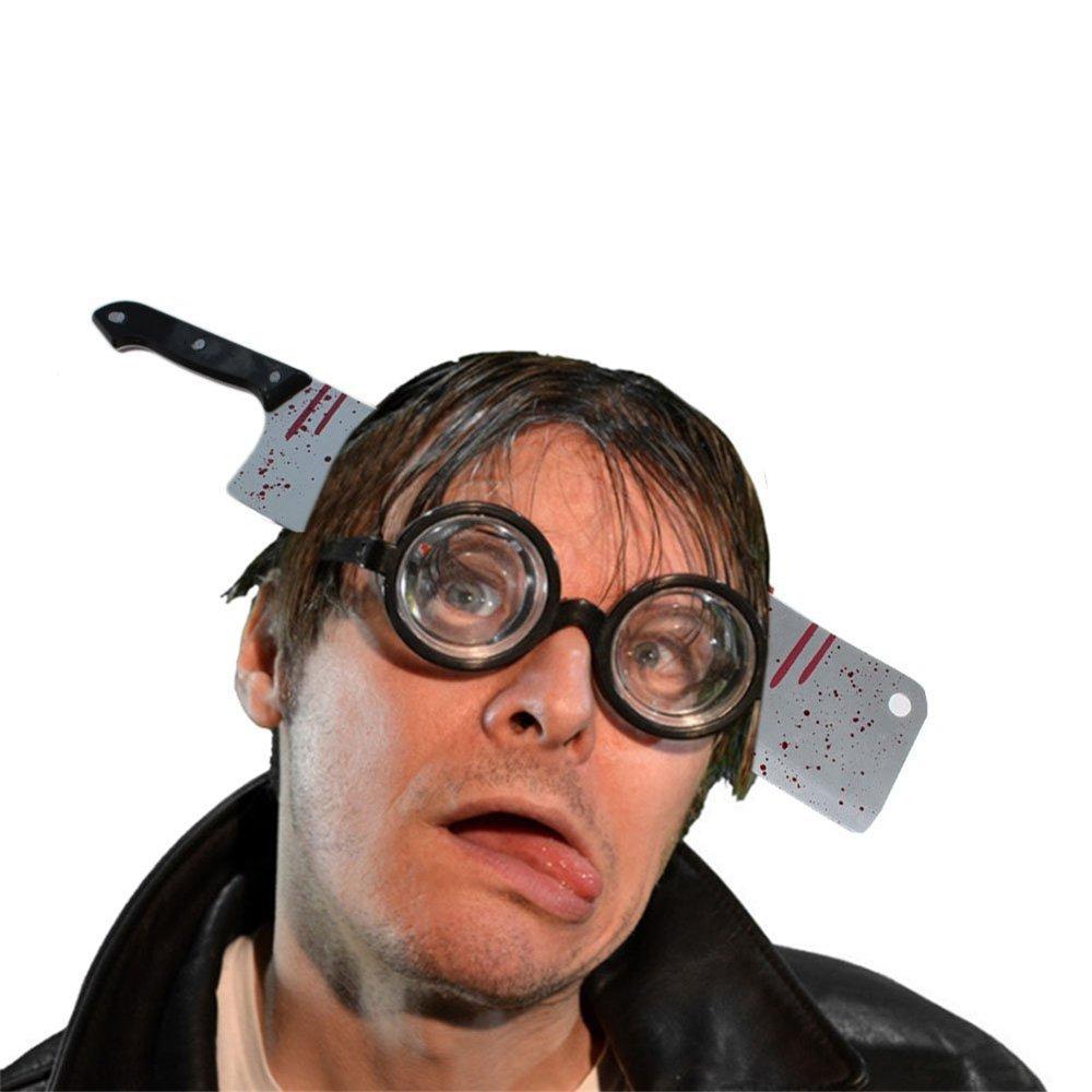 NYKKOLA Bloody Hairband Weapon Through Head Hair Hoop Headband Props Halloween Party Decoration Cosplay Costume XGDAO-injector