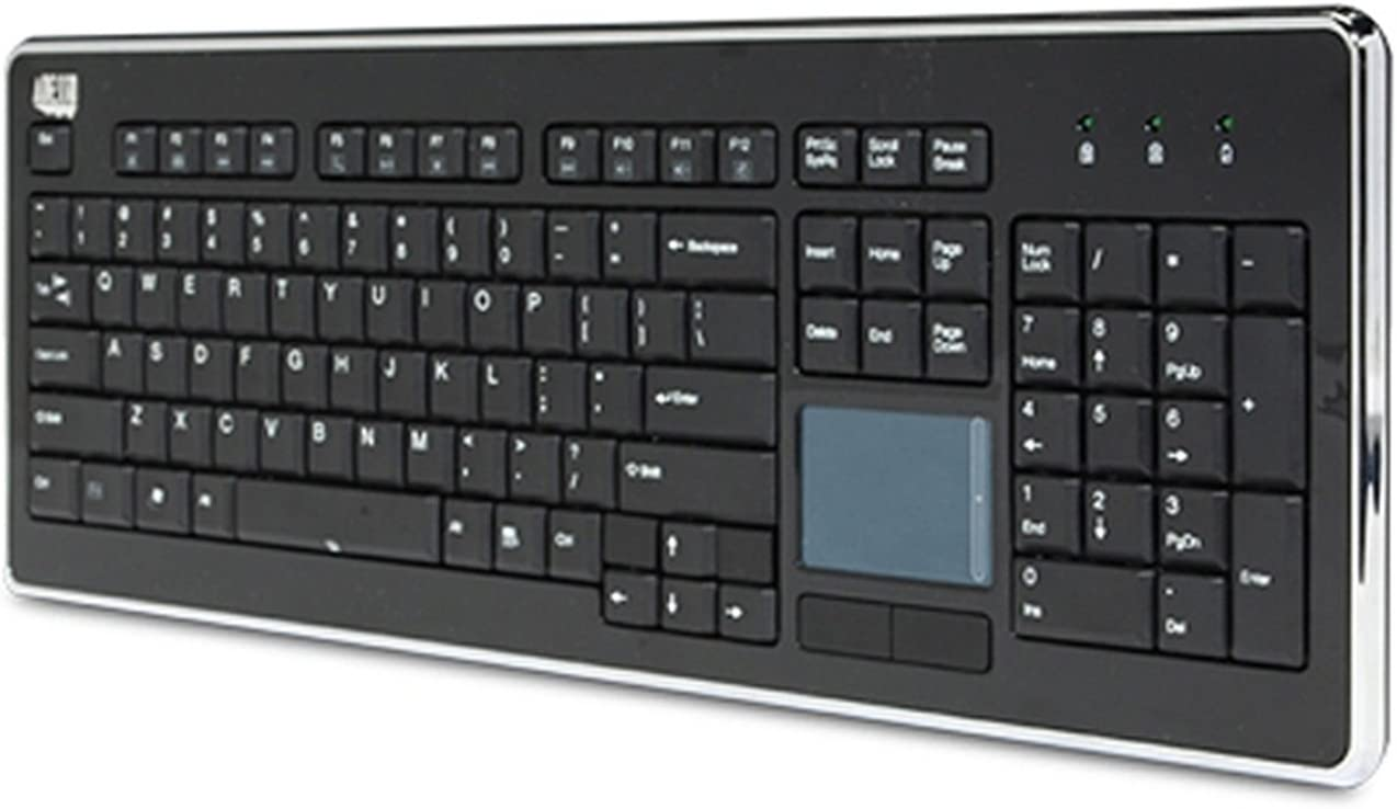 Adesso AKB-440UB - SlimTouch 440 Desktop Touchpad Wired Keyboard - Black