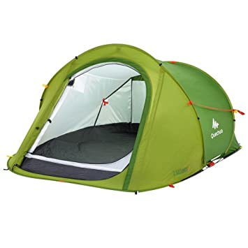 Decathlon Quechua tienda de campaña para familia de persona 2 SECONDS EASY 2 PEOPLE LIGHT GREEN