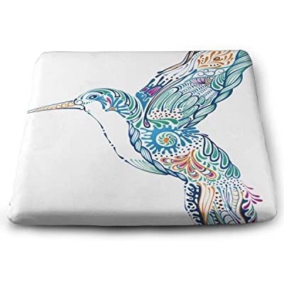 """Osvbs Abstract Hummingbird Decorative Chair Pad Cushion 1.2"""" × 13.8"""" × 15.0"""" for Home Office Dinning Chair Solid Color Indoor Outdoor: Home & Kitchen"""