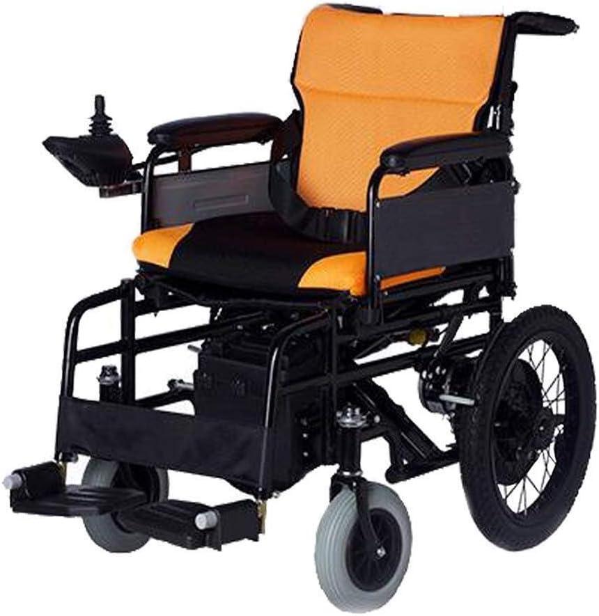 Silla de ruedas eléctrica plegable portátil de peso ligero, Presidente de ancianos de alimentación motorizado Vespa con Li-iones de litio for discapacitados y ancianos Movilidad de carga de 100 kg sil