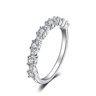 site réputé e608f 3d4e4 JewelryPalace Magnifique Bague de Fiançailles Femme Alliance Mariage  Anniversaire en Argent Sterling 925 en Zircon Cubique de Synthèse CZ 0.63ct