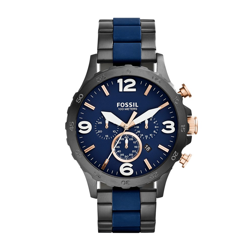 006e330b831 Amazon.com  Fossil Men s JR1494 Nate Analog Display Analog Quartz Black  Watch  Fossil  Watches