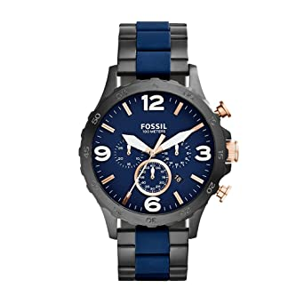b102b9a7cd2 Image Unavailable. Image not available for. Color  Fossil Men s JR1494 Nate  Analog Display Analog Quartz Black Watch