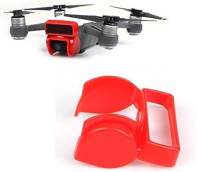 Opinión sobre Flycoo Parasol para cámara DJI Spark Drone cámara anti-reflejo sunhood cardán protector de la cámara (Rojo)
