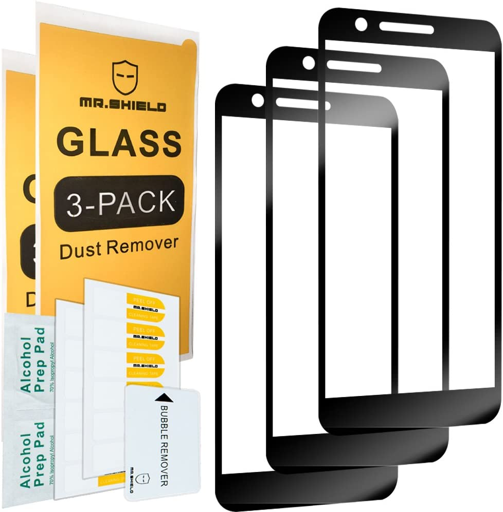 [3-Pack]-Mr.Shield for LGPremierProLTE [Full Cover] Screen Protector with Lifetime Replacement