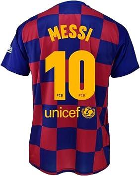 Camiseta 1ª equipación FC. Barcelona 2019-20 - Replica Oficial con Licencia - Dorsal 10 Messi - Adulto Talla L: Amazon.es: Deportes y aire libre