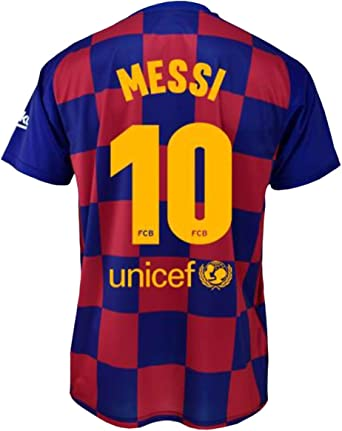 Camiseta 1ª equipación FC. Barcelona 2019-20 - Replica Oficial con Licencia - Dorsal 10 Messi - Adulto Talla L: Amazon.es: Ropa y accesorios
