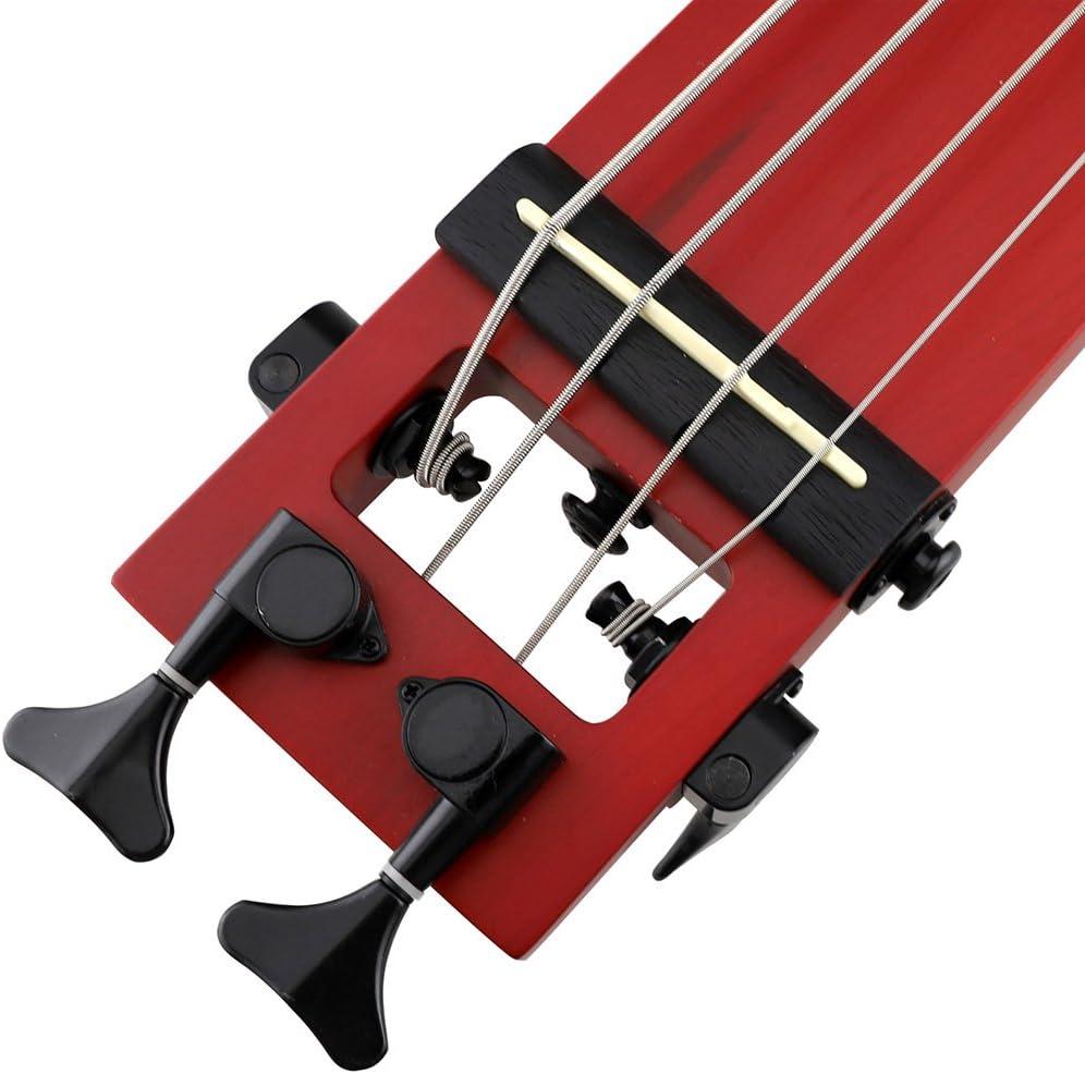 Anygig Agb Full Scale Length Left Hand Traveler Bass Guitar Portable Black