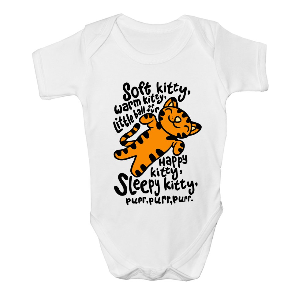 Big Bang Theory Soft Kitty Warm Kitty Cute & Funny Baby Grow Body Suit Vest