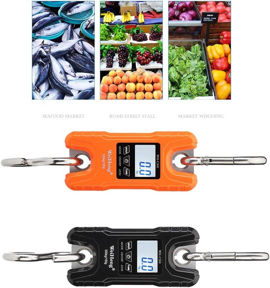 gulang-keng Mini-Kranwaage Tragbare 500 kg 1000 lb Hochleistungs-Digital-H/ängewaage LCD-Display mit Hintergrundbeleuchtung f/ür den heimischen Bauernmarkt Angeln Jagen