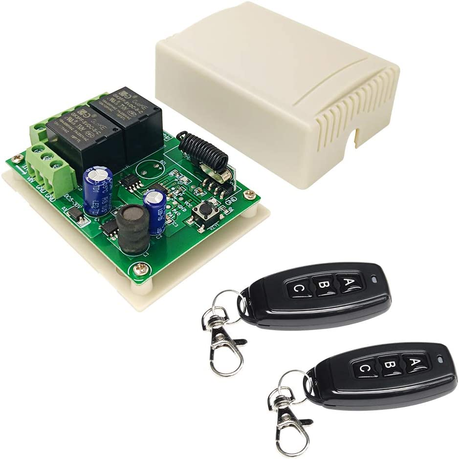 433MHz Universal Wireless Remote Control DC 12V 2CH rf Relay Receiver With Shell