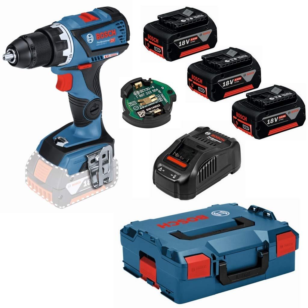 Bosch batería de destornillador eléctrico GSR 18 V de 15 C, 3 x 5 Ah ...