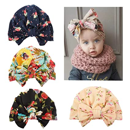 3dc25555f8f Image Unavailable. Image not available for. Color  Aobiny Cute Newborn  Toddler Kids Baby Boy Girl Turban Cotton Beanie Hat Winter Warm Cap Head