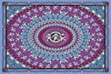 Sunshine Joy Grateful Dead Dancing Bear Tapestry Tablecloth Wall Art Beach Sheet Huge 60x90 Inches - Blue & Purple