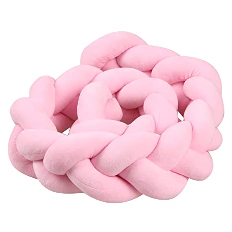 Youngshion - Cojín trenzado para cuna de bebé rosa rosa ...