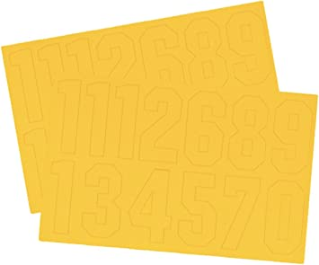 WS513 - DESIGN 1 M/ülltonnenaufkleber Nummer Wei/ß Selbstklebend 17cm 2 St/ück Packung Nummer 3