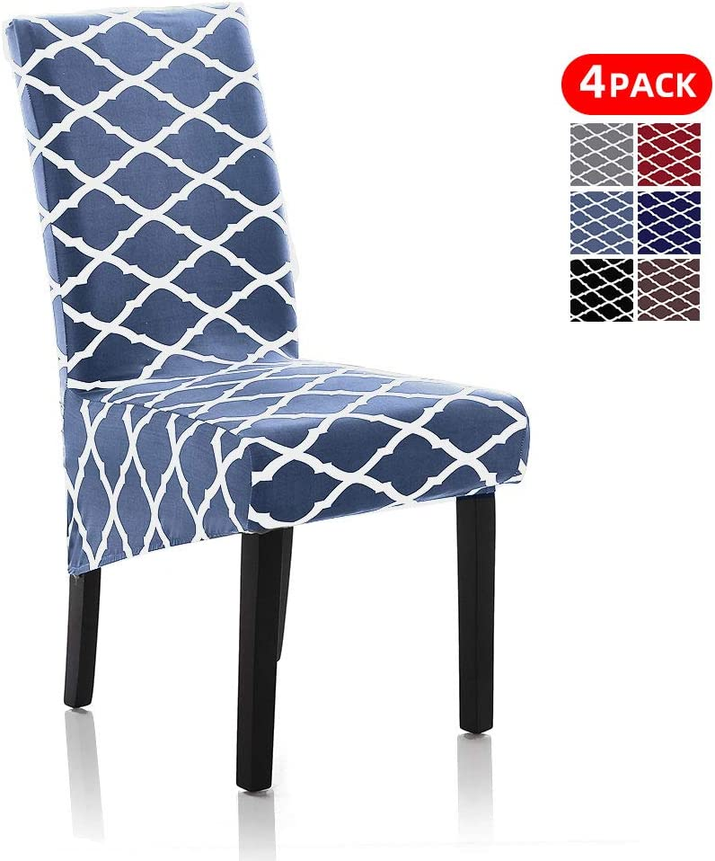 Stretch Dining Chair Slipcovers, XL/Oversized Removable Washable Soft  Spandex Extra Large Dining Room Chair Covers for Kitchen Hotel Table  Banquet ...