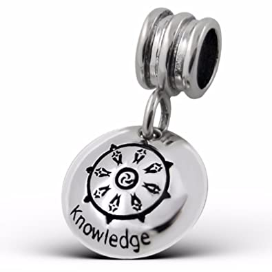 Silvadore Silver Bead Knowledge Plaque Sign Round Logo Chinese