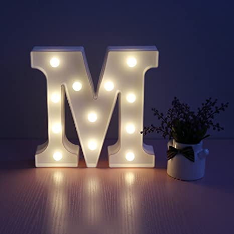 Missley Letras Del Led Letras Blancas Del Alfabeto Led Decorativo - Decoracion-con-leds