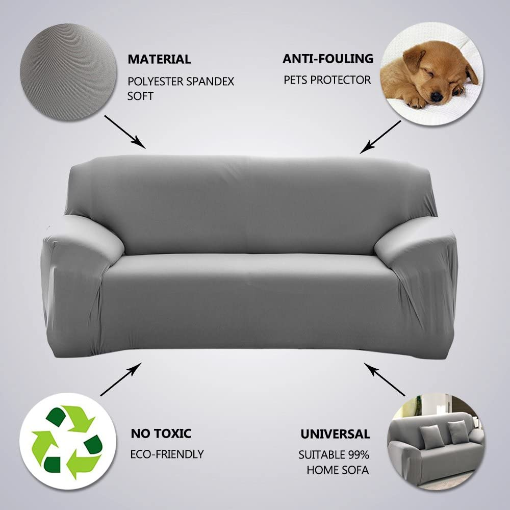 1-4 Sitzer Sofabezug Sofahusse Sesselbezug Sitzbezug Sesselüberwurf Universal DE