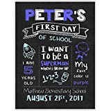 First Day of School Chalkboard Personalized Sign Photo Prop Poster