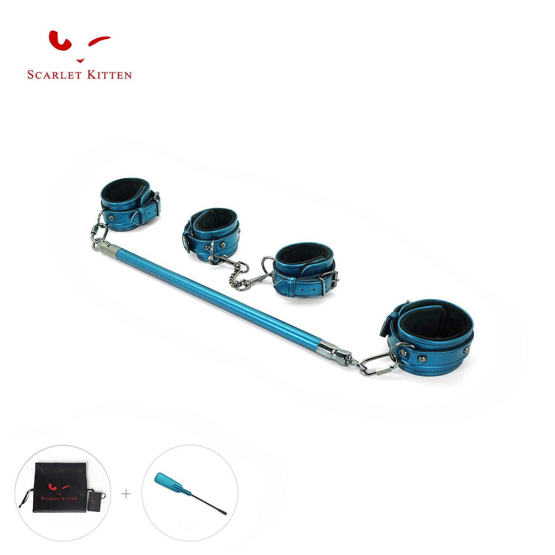 SCARLET KITTEN Wood Spreader Bar with Adjustable Straps Kit, Blue by SCARLET KITTEN