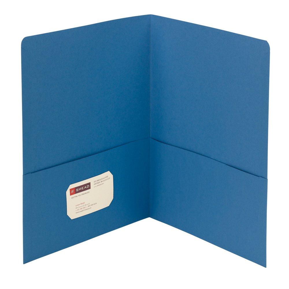 Smead Two-Pocket Heavyweight Folder, Letter Size, Blue, 25 per Box (87852)