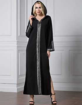bfa02f8999d9e Free shipping Muslim kaftan Arabia long sleeve dress with embroidery ...