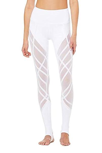 Amazon.com: Alo Yoga Wrapped Stirrup Leggings (Small) White ...