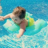 MARINE COLOR Baby Swimming Ring Inflatable Infant Armpit Floating Kids Swim Pool Accessories Circle Bathing Inflatable Double Raft Rings Toy Children Float (S)